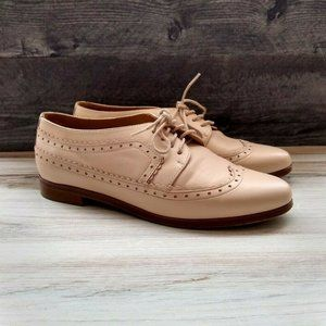 Sezane Paul Derbies Nude Smooth Leather Shoes